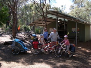 Carinyah - our first trail hut where we met Randy and family. They were riding the first section to Jarrahdale. Impressive!
